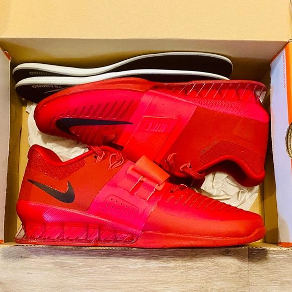 Nike Romaleos 3 Siren Red Black Weightlifting